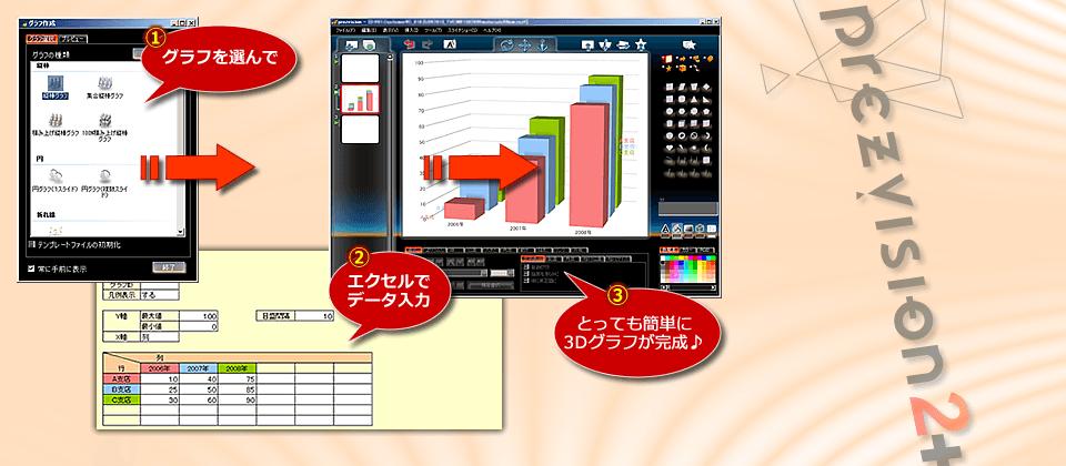 エクセルから3Dグラフを自動生成